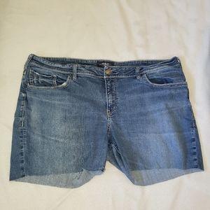 Silver Cutoff Shorts Size 22
